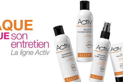 La ligne Activ de Elite Hair , chez Linéa Coiffure