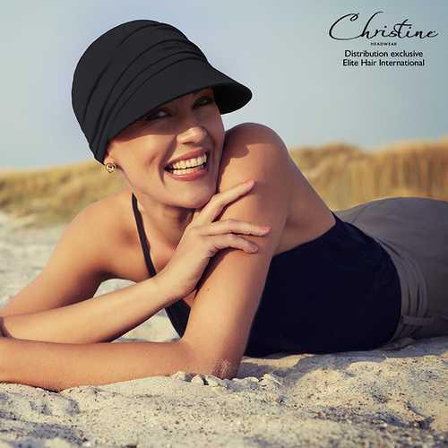 Indispensable pour l''été : Casquette SOFT LINE SUN TAN - Elite Hair casquette-chimio-soft-line-sun-onyx-132805902